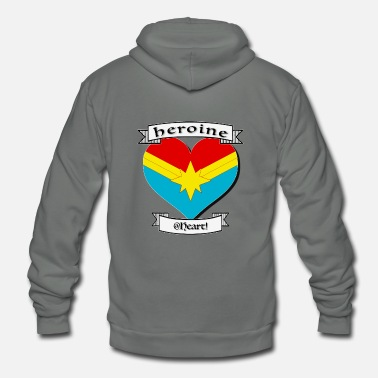 Heroin heroine at heart - Unisex Fleece Zip Hoodie