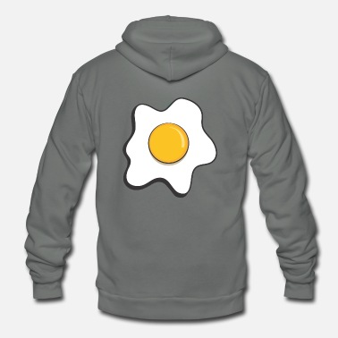 Fried Egg fried egg - Unisex Fleece Zip Hoodie