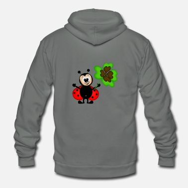 Good Luck Ladybug - Unisex Fleece Zip Hoodie