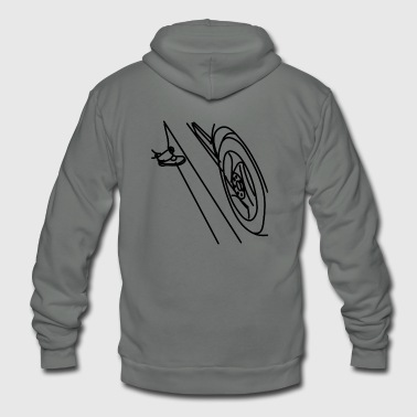 car tire - Unisex Fleece Zip Hoodie