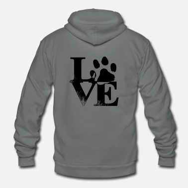 Lover Dog love - Unisex Fleece Zip Hoodie