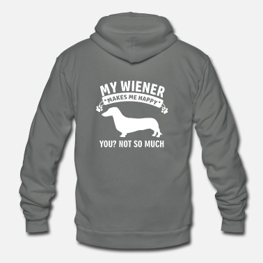 Wiener wiener dog design - Unisex Fleece Zip Hoodie
