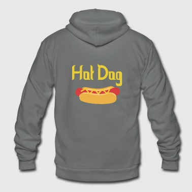 Hot Dog Hot Dog - Unisex Fleece Zip Hoodie