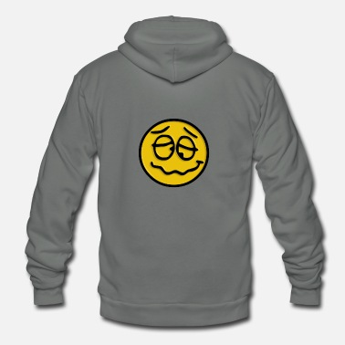 Foolish Crazy Smiley - Unisex Fleece Zip Hoodie