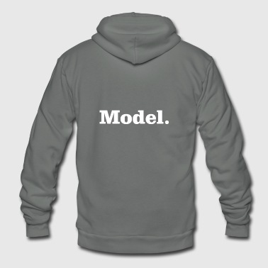 Model - Unisex Fleece Zip Hoodie