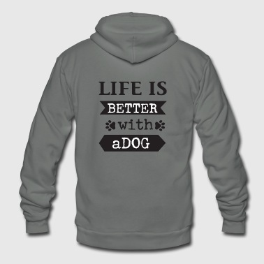 Watchdog guards home - Unisex Fleece Zip Hoodie