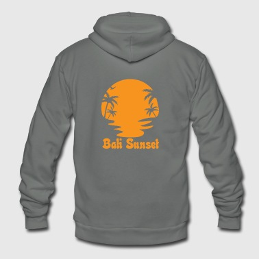 bali sunset - Unisex Fleece Zip Hoodie