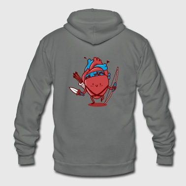 Cutest Heart Attack Ever - Unisex Fleece Zip Hoodie