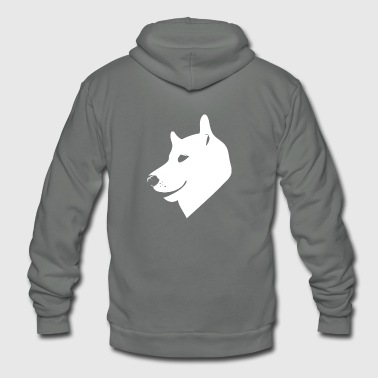 Head dog - Unisex Fleece Zip Hoodie