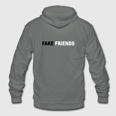 Fake FAKE FRIENDS - Unisex Fleece Zip Hoodie