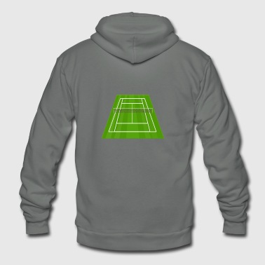 Tennis Court/ Tennis Net/ Court Sport - Unisex Fleece Zip Hoodie