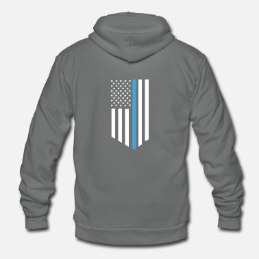 Icon American Flag - Unisex Fleece Zip Hoodie