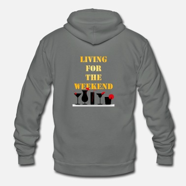 Living For The Weekend - Unisex Fleece Zip Hoodie