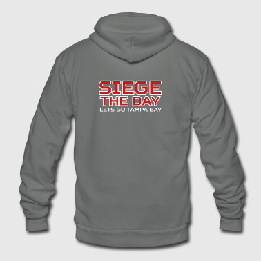 SIEGE THE DAY - Unisex Fleece Zip Hoodie