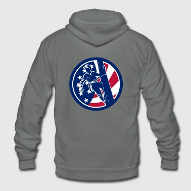 American Lineworker USA Flag Icon - Unisex Fleece Zip Hoodie