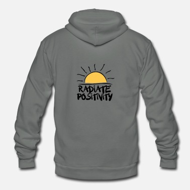 Positivity radiate Positvity Sunshine - Unisex Fleece Zip Hoodie