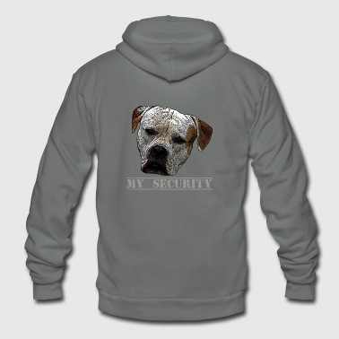 Pitbull ,Bulldogs,Watchdog - Unisex Fleece Zip Hoodie