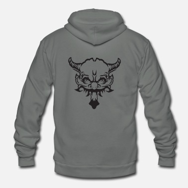 Scary Monster demon devil scary monster - Unisex Fleece Zip Hoodie