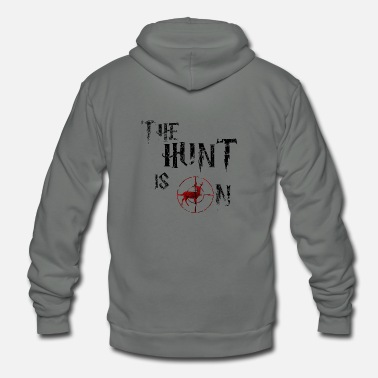 Dog The hunt is on - Unisex Fleece Zip Hoodie