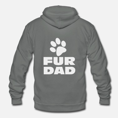 Fur Fur Dad - Unisex Fleece Zip Hoodie