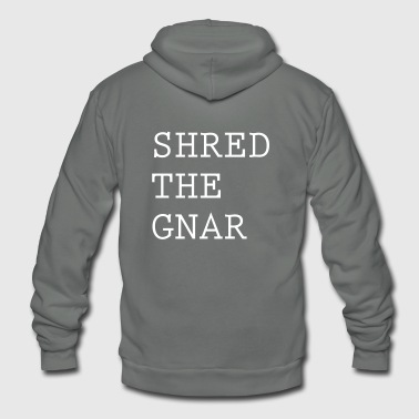 Shred the gnar - Unisex Fleece Zip Hoodie