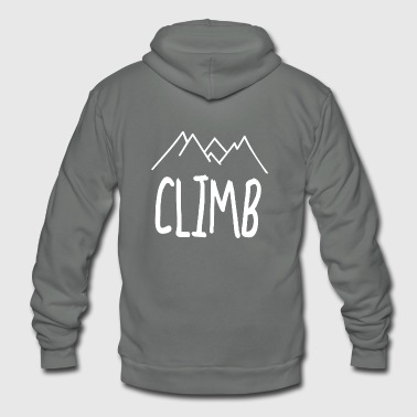 mountains climbing - Unisex Fleece Zip Hoodie