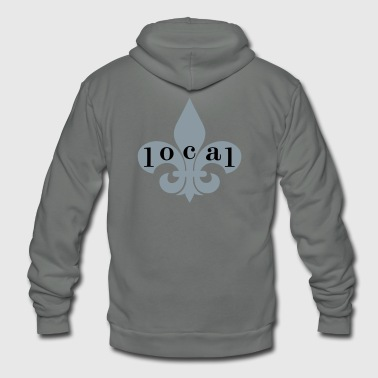 Fleur de lis Local - Unisex Fleece Zip Hoodie