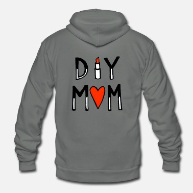 Diy DIY MOM - Unisex Fleece Zip Hoodie
