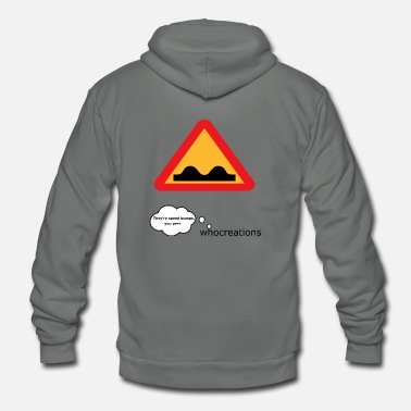 Speed bumps, not boobs - Unisex Fleece Zip Hoodie