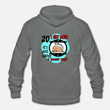 2d 2D s Not Dead - Unisex Fleece Zip Hoodie
