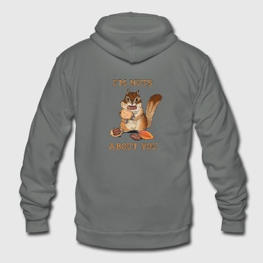 I'm Nuts About You Funny Squirrel Pun Couple - Unisex Fleece Zip Hoodie