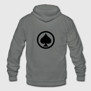 Pik Spade Cards Cardgame Mountaintop Peak Gift - Unisex Fleece Zip Hoodie