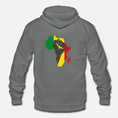 Pan African Flag Pride Gift T-shirt - Unisex Fleece Zip Hoodie