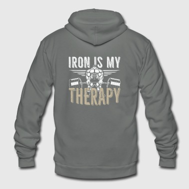 Gym iron is my therapy - Unisex Fleece Zip Hoodie