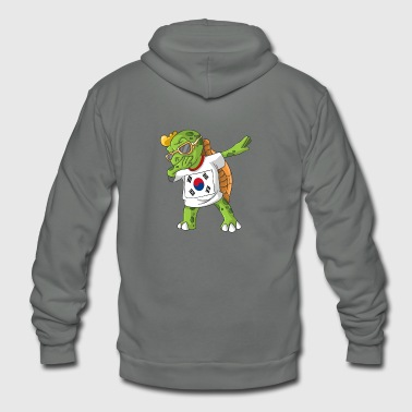 South Korea Dabbing Turtle - Unisex Fleece Zip Hoodie