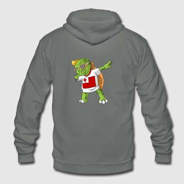 Tonga Dabbing Turtle - Unisex Fleece Zip Hoodie