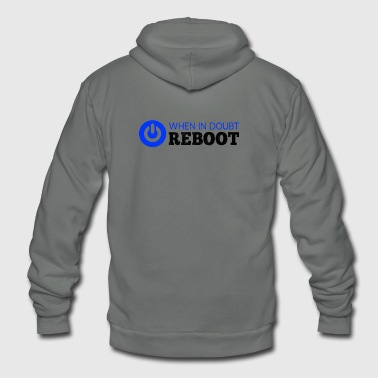 New Design WHEN IN DOUBT REBOOT Best Seller - Unisex Fleece Zip Hoodie