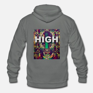 High - Unisex Fleece Zip Hoodie
