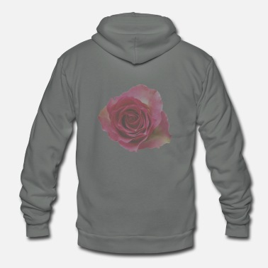 Rose Pink Rose - Unisex Fleece Zip Hoodie
