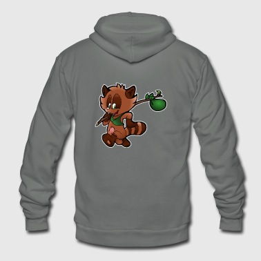 raccoon - Unisex Fleece Zip Hoodie