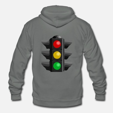 Traffic Traffic Light - Unisex Fleece Zip Hoodie