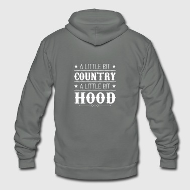 Quotes Country Hood Little Bit Country Bit Hood - Unisex Fleece Zip Hoodie