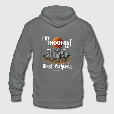 Got Mooned in West Virginia WV Lunar Eclipse 2018 - Unisex Fleece Zip Hoodie