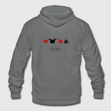 full house game poker casino cards pik heart devil - Unisex Fleece Zip Hoodie