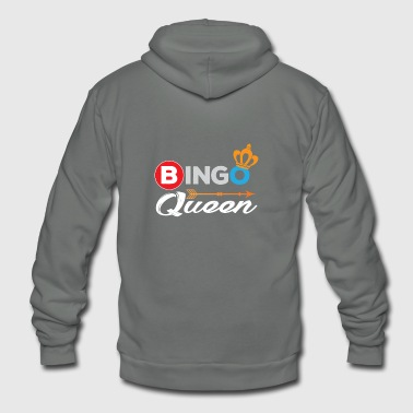 Bingo Shirt Bingo Queen Bingo Player Gift - Unisex Fleece Zip Hoodie