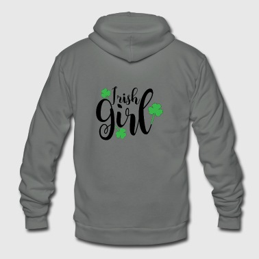 Irish Girl - Unisex Fleece Zip Hoodie