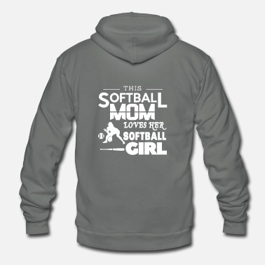 I Love Softball This Softball Mom Loves Her Softball Girl T shirt - Unisex Fleece Zip Hoodie