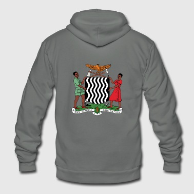 Zambia National Coat of Arms Premium Design - Unisex Fleece Zip Hoodie