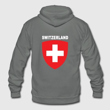 Switzerland National Emblem Premium Design - Unisex Fleece Zip Hoodie