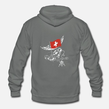 Switzerland Switzerland - Unisex Fleece Zip Hoodie